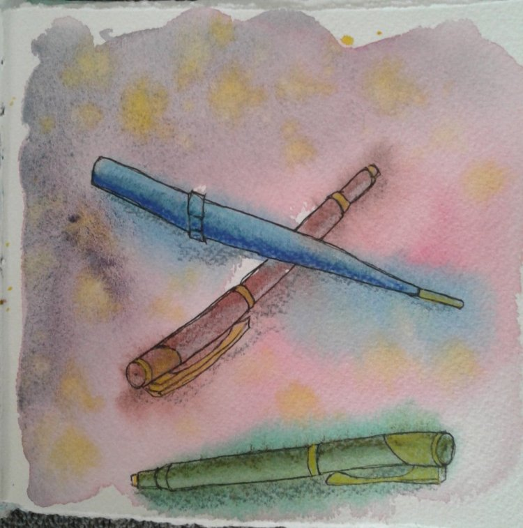 Day 323… Pens I love all my art supplies, but next to my watercolors my fountain pens are my f
