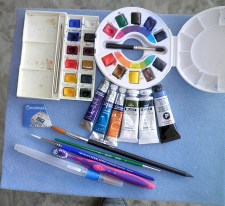Art Materials Watercolor tubes palette