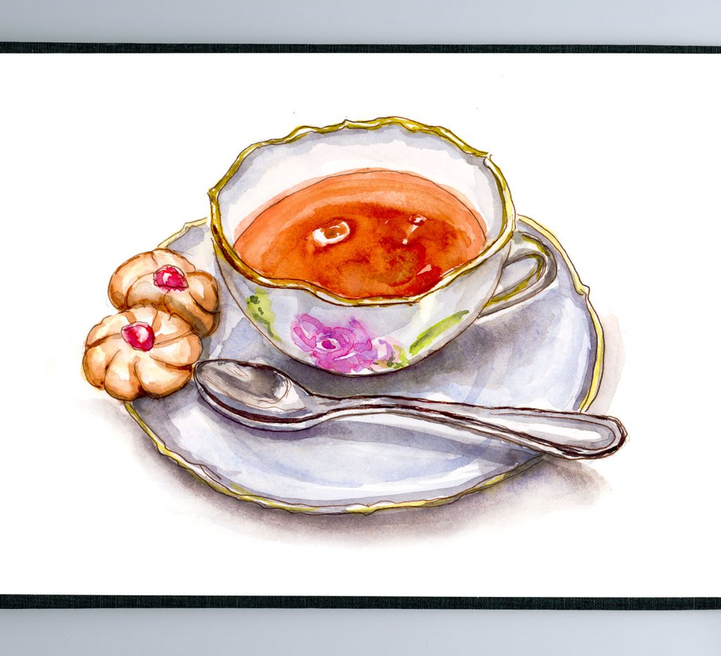Day 15 - Tea Cookies And Teacup - #doodlewashMay2018 Doodlewash