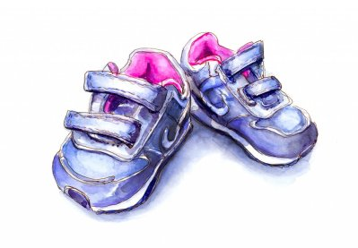 Day 18 - Little Shoes To Fill Baby Shoes Watercolor - #doodlewashMay2018 Doodlewash