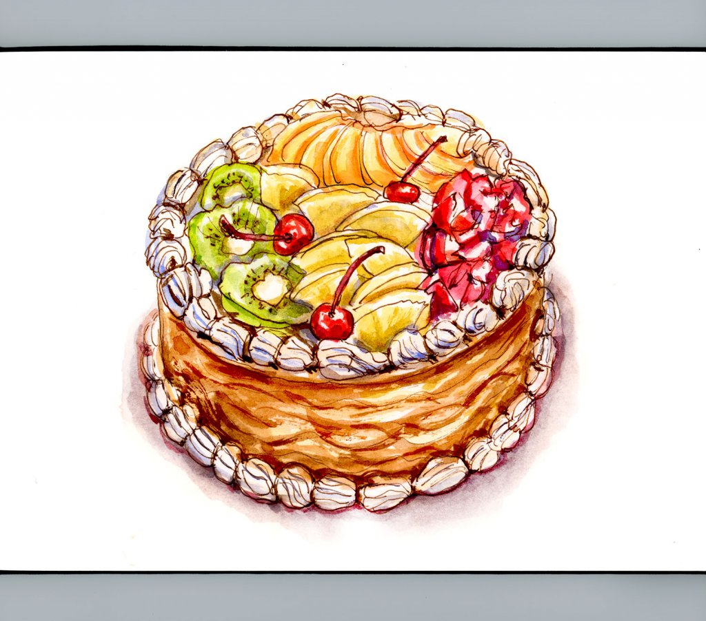 Day 31 - All Good Things End With Dessert - Fruit Cake #doodlewashMay2018 Doodlewash