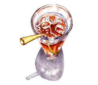 Day 6 - Iced Tea Galss With A Straw - #doodlewashMay2018 Doodlewash