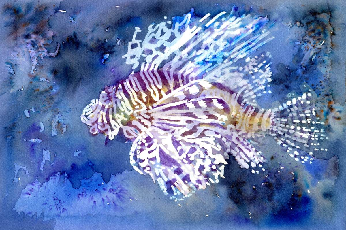 Brusho Crystal Colours -Painting by Sandra Strait