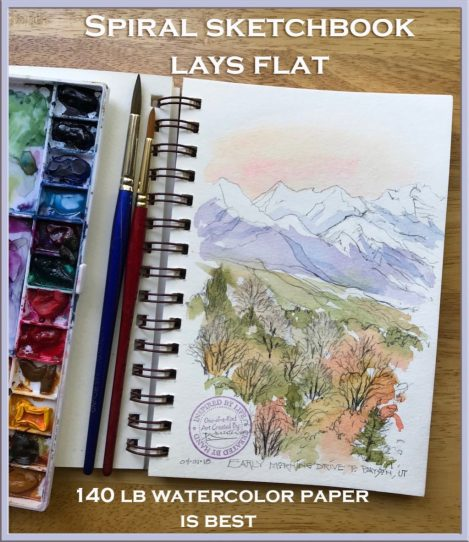 Sketchbook - Watercolor Painting by Patricia Lee Christensen - Doodlewash