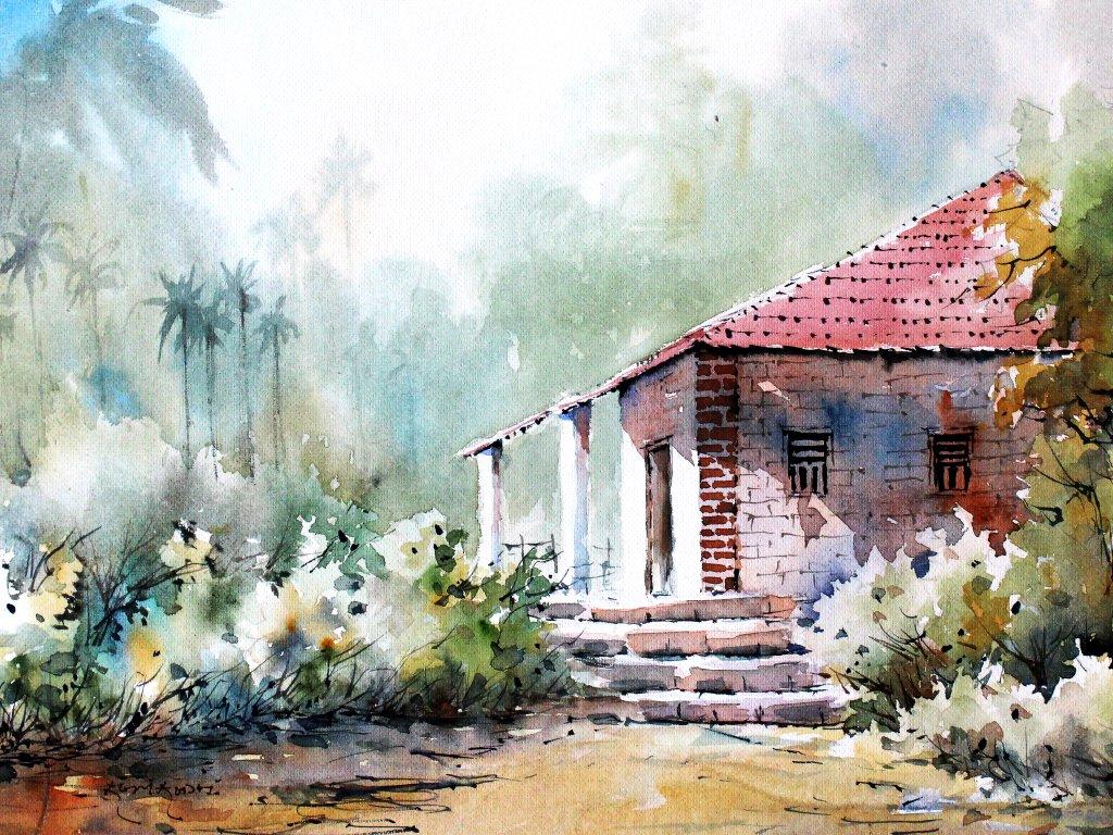 Watercolor Painting by Sujit Sudhi - Doodlewash #WorldWatercolorGroup