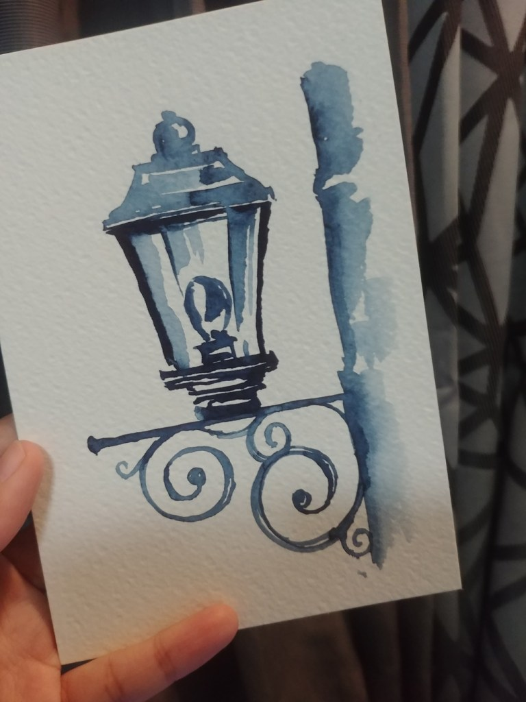 This was my first attempt to do some watercolor painting again after being on hiatus for more than 3