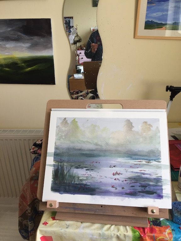Have been out painting en plein air at Arlington Court, National Trust. I got the first layer done,