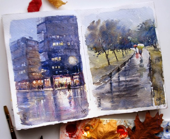 Watercolour Sketch by Dhruba Mazumder - Doodlewash.com - #WorldWatercolorGroup