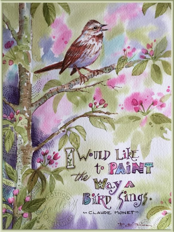 Song Sparrow - Watercolor Painting by Patricia Lee Christensen - Doodlewash