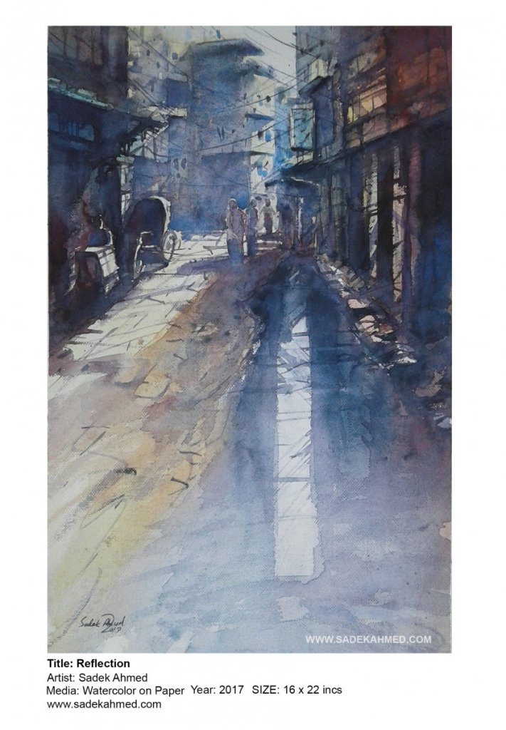 AFTER RAIN | watercolor Painting of SADEK AHMED 105