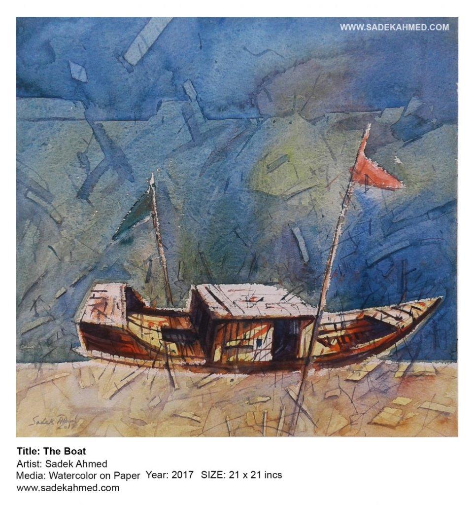 The Boat | watercolor of SADEK AHMED 108