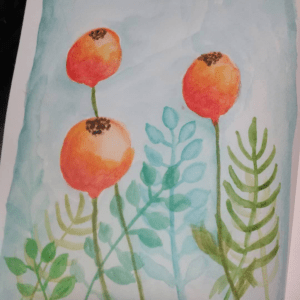 New to watercolours… having been learning a lot via YouTube. This little painting in my waterc