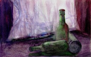 Tea – A horribly over-worked painting of … what? That's not tea? Well, that explai