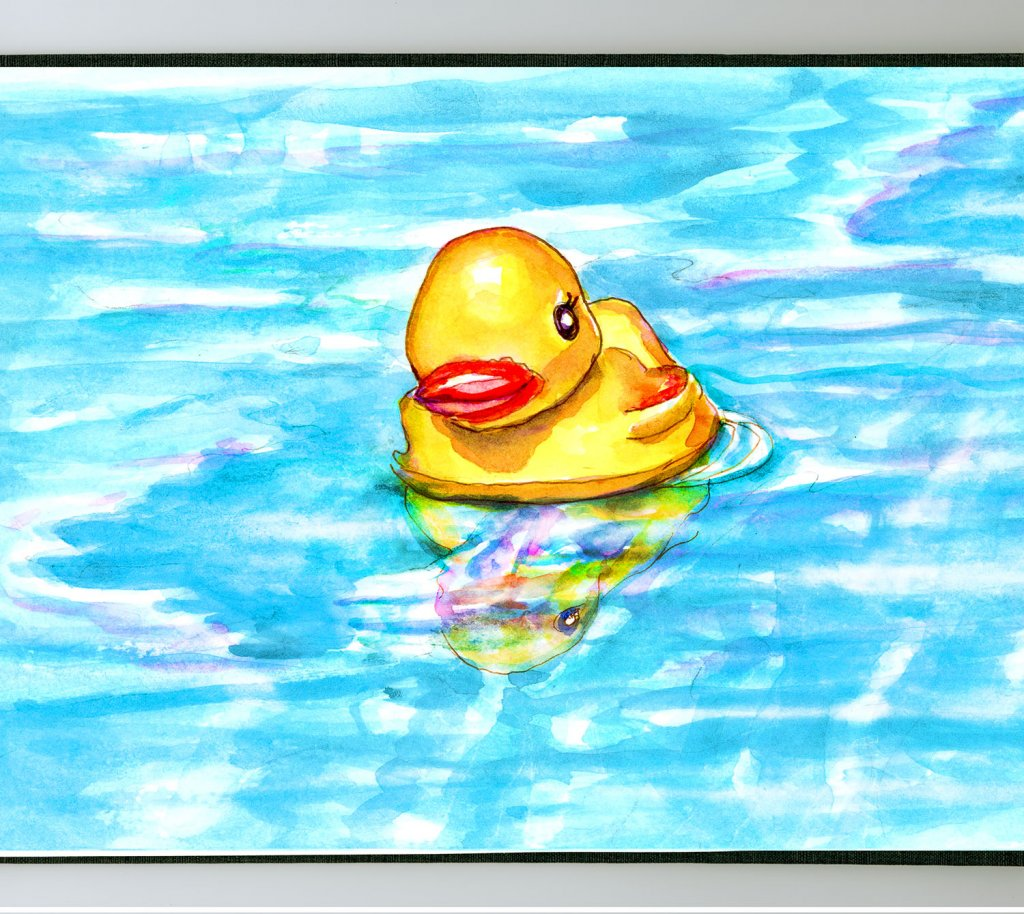 Day 24 - Swimming With Friends Rubber Duck Pool - #doodlewashJune2018 Doodlewash