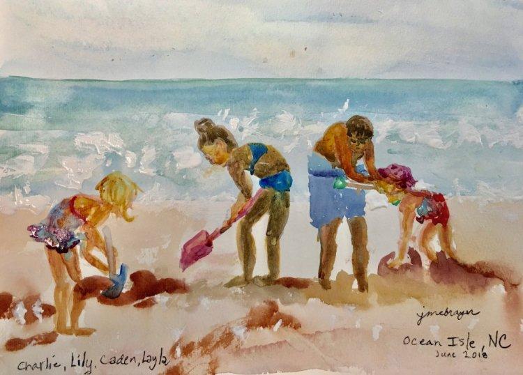 """Outdoor Fun"" My grandchildren playing in the sand this summer. #doodlewashJune2018 IMG_"