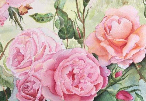 Watercolor Painting by Karen Paul - #WorldWatercolorGroup Doodlewash