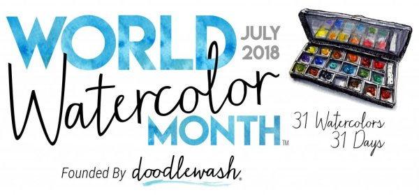 World Watercolor Month July 2018 Full Banner