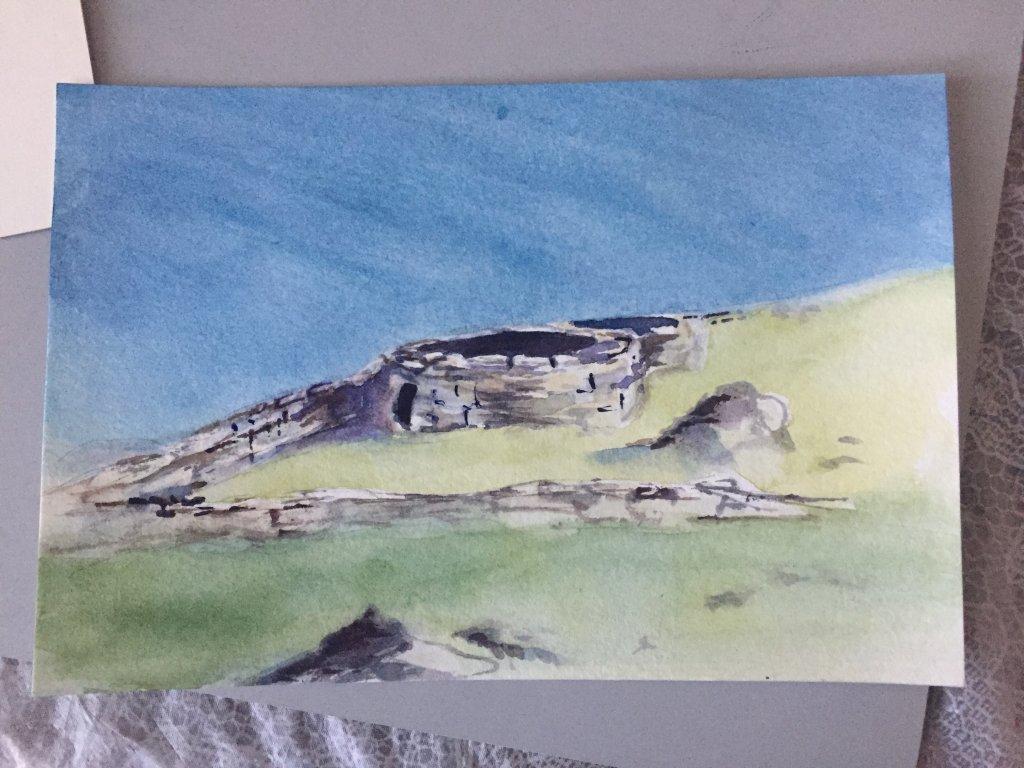 Rocks. Sheep nearby instead of fox. Wild (Irish) Atlantic Way Beehive huts made from. . .rocks. beeh