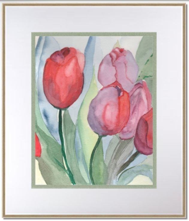 Tulips have gone but the paintings remain. tulips framed