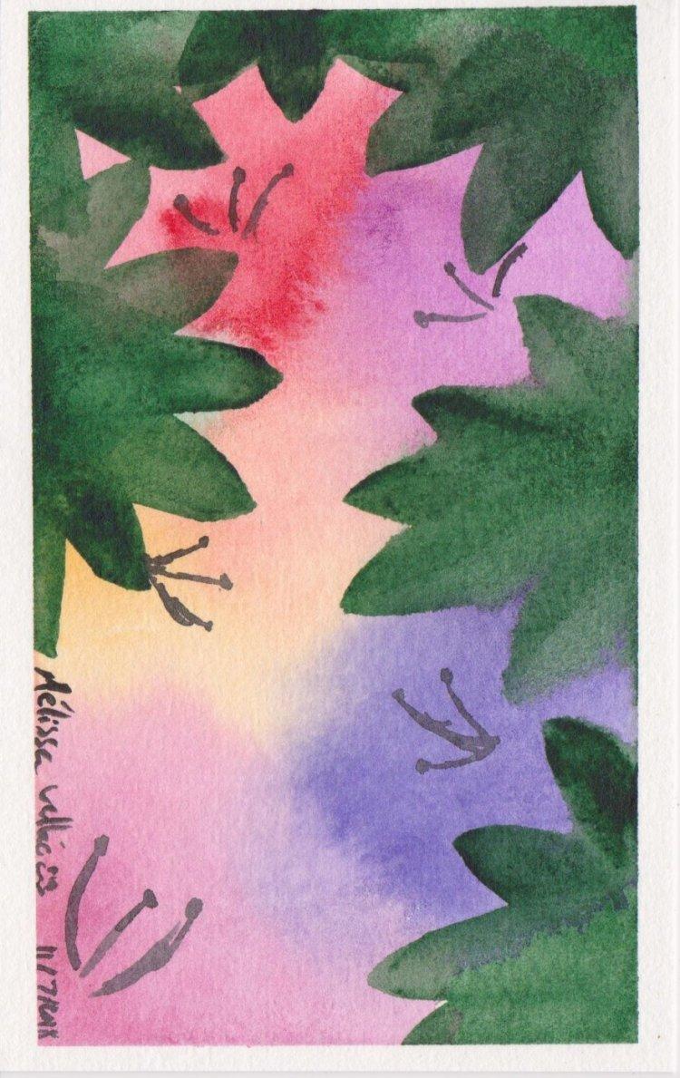#WorldWatercolorMonth Day 11: Beautiful Bloom 013
