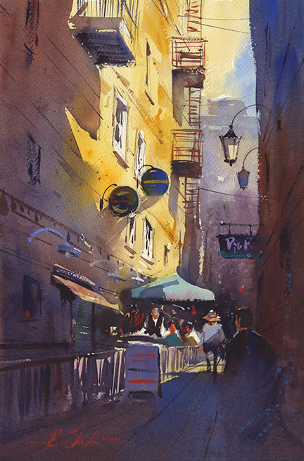 Watercolor Painting by Ron Stocke - #WorldWatercolorMonth - Doodlewash