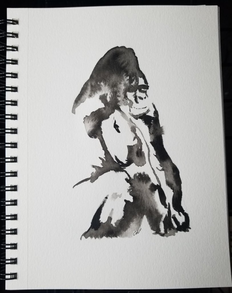 A silverback for the jungle prompt. 20180720_174014