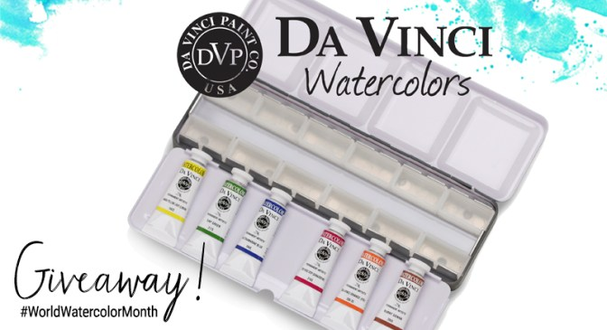 Da Vinci World Watercolor Month Week 3 Giveaway Graphic
