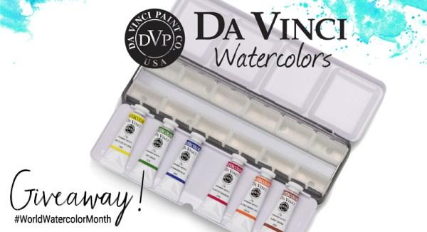 Da Vinci World Watercolor Month Week 3 Giveaway Graphic