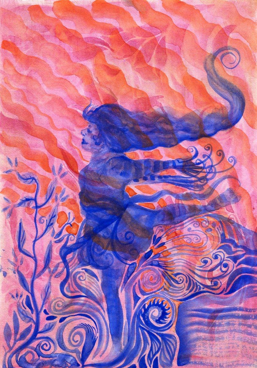 Princeton Velvetouch Brushes - Watercolor painting example Sandra Strait - Doodlewash