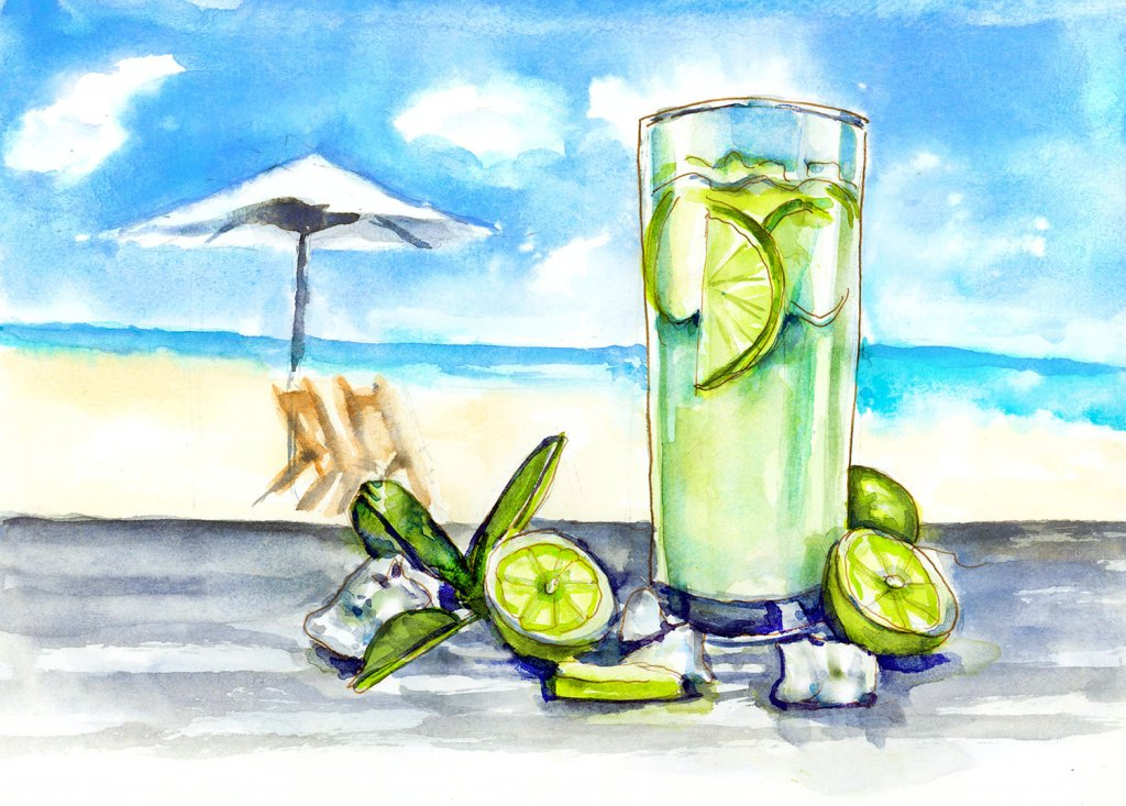 Day 1 - World Watercolor Month Sunny Days - #WorldWatercolorMonth Doodlewash