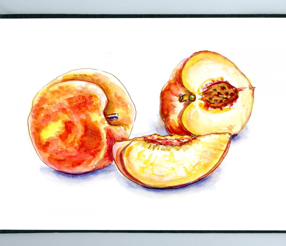 Day 2 - World Watercolor Month Delicious Food - #WorldWatercolorMonth Doodlewash