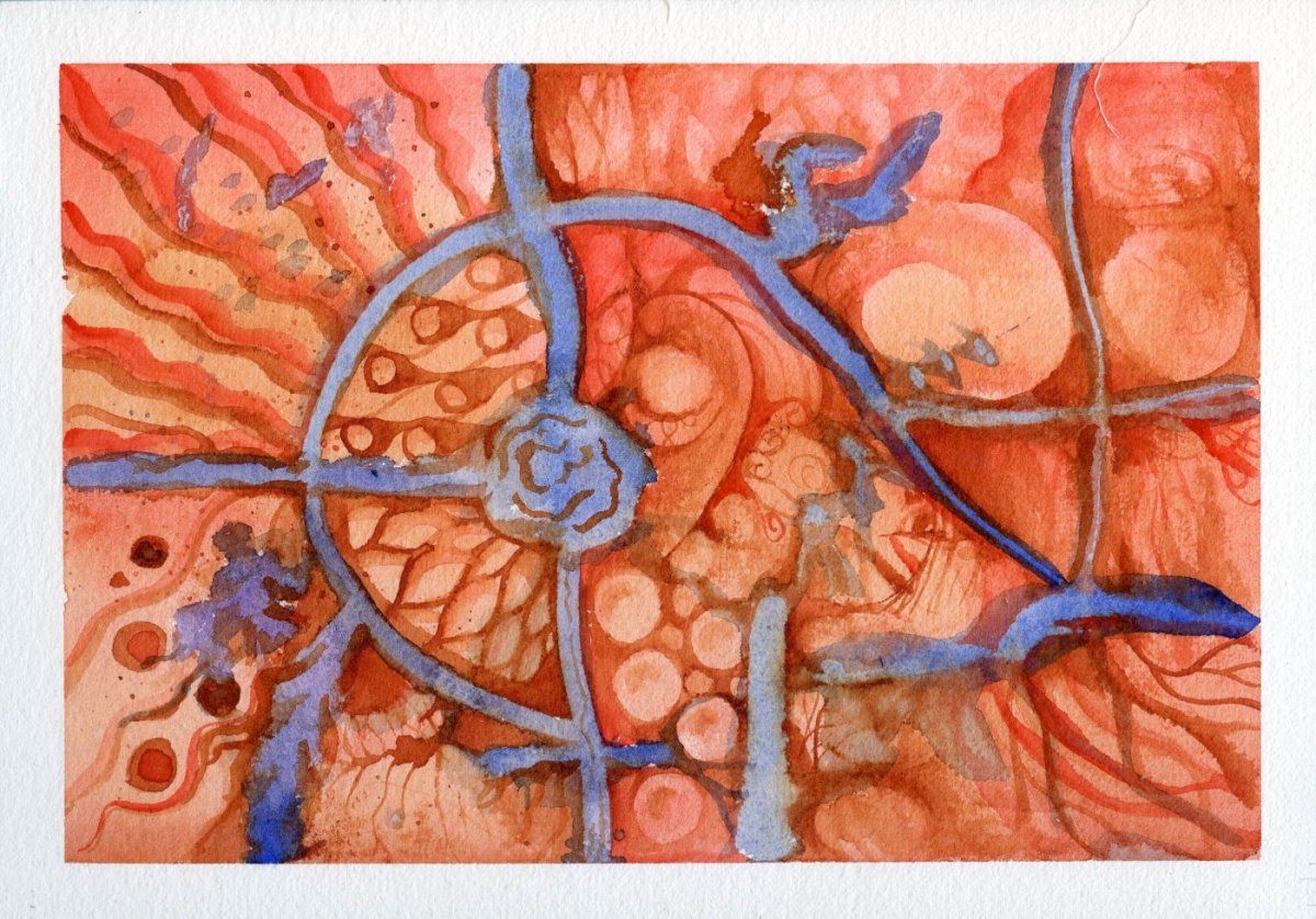 QoR Watercolor Painting Example Sandra Strait - Doodlewash