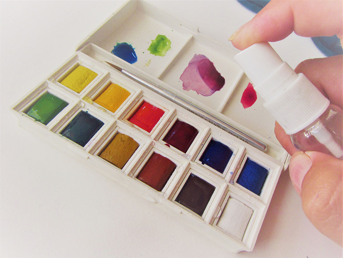 Winsor & Newton Cotman Watercolors and Spray Bottle