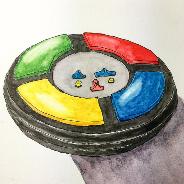Day 29 of World Watercolor Month … Prompt – Childhood Memories. For some reason Simon popped