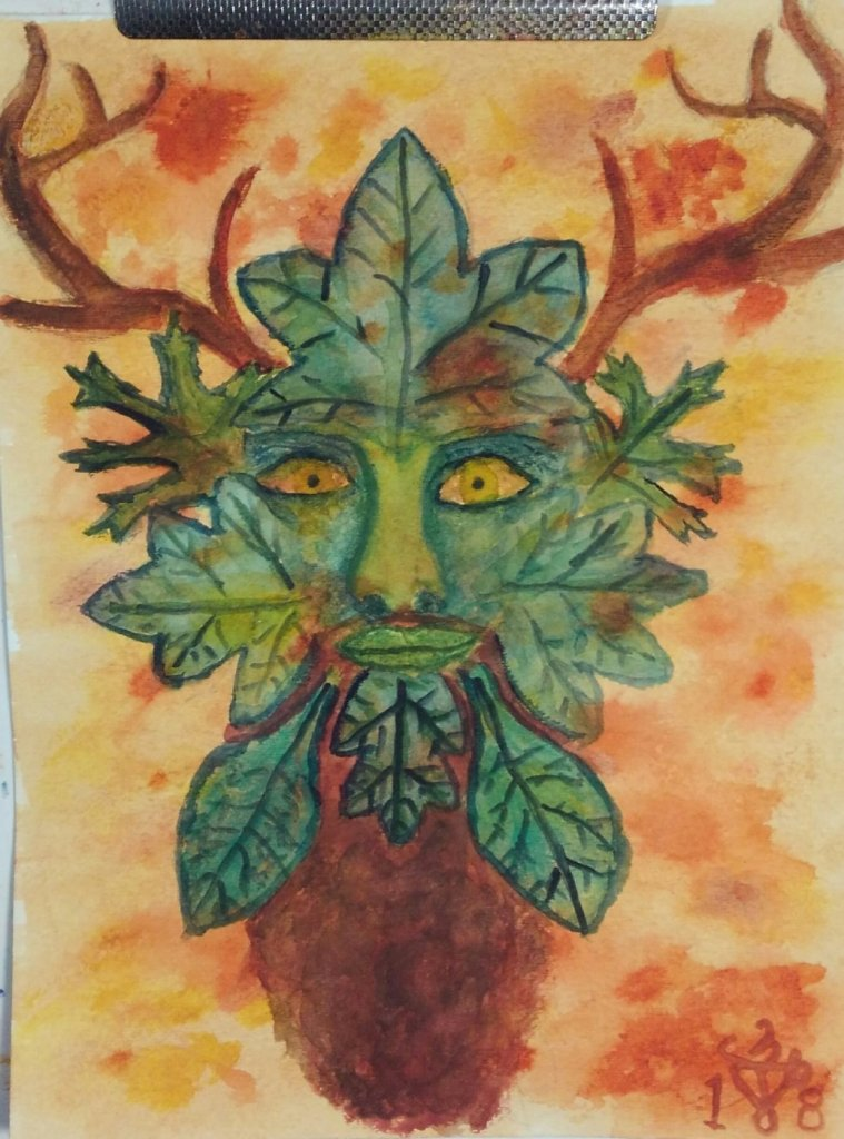 """The Guardian of the Forest ~ watercolor on cold press paper Soundtrack: """"Early Man"""" by S"""