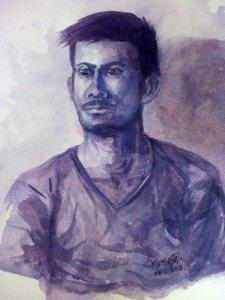Watercolor on HM Paper Portrait 28-7-2018