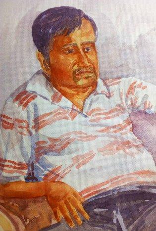 Portrait Study- Watercolor on paper 3 Portrait Study-Watercolor on paper 2Portrait Study-Watercolor