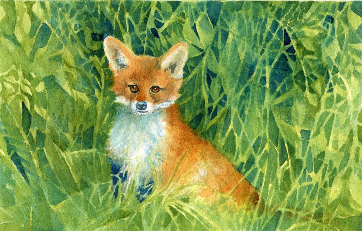 Qor Watercolor Painting Example by Sandra Strait - Doodlewash