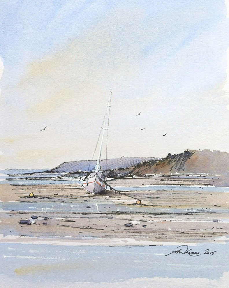 Andrew Lucas Watercolor Painting - Doodlewash #WorldWatercolorMonth