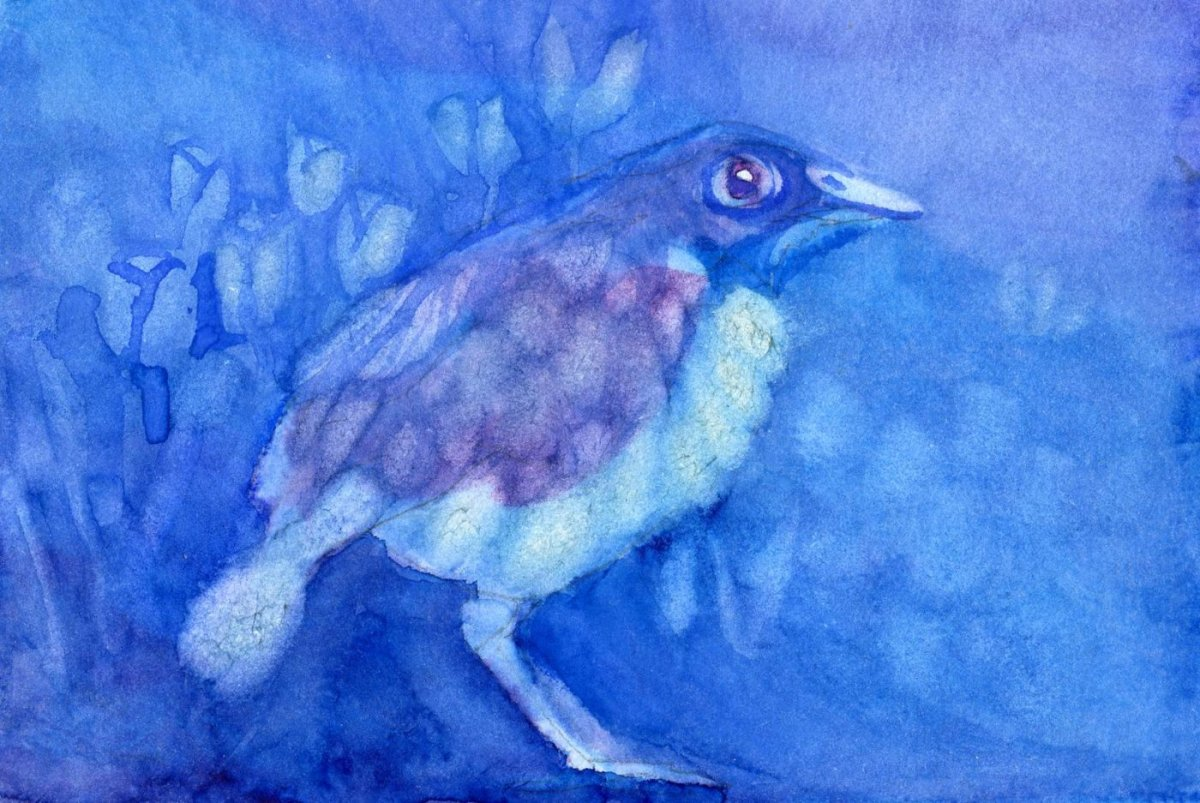 QoR Watercolor Lift Aid Example Painting by Sandra Strait