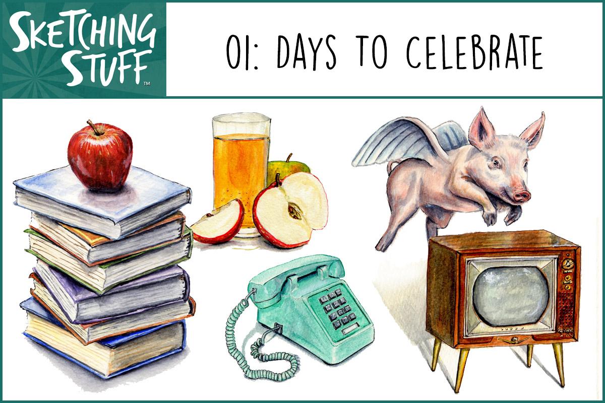 Sketching Stuff Podcast 01 Days To Celebrate Doodlewash®