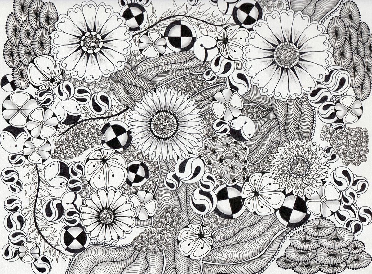 Zentangle - Tangle Art by Alice Hendon - Doodlewash