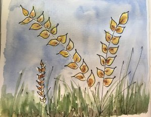 Day 4 – #WorldWatercolorMonth – Not the theme for today, but can't stop creativity