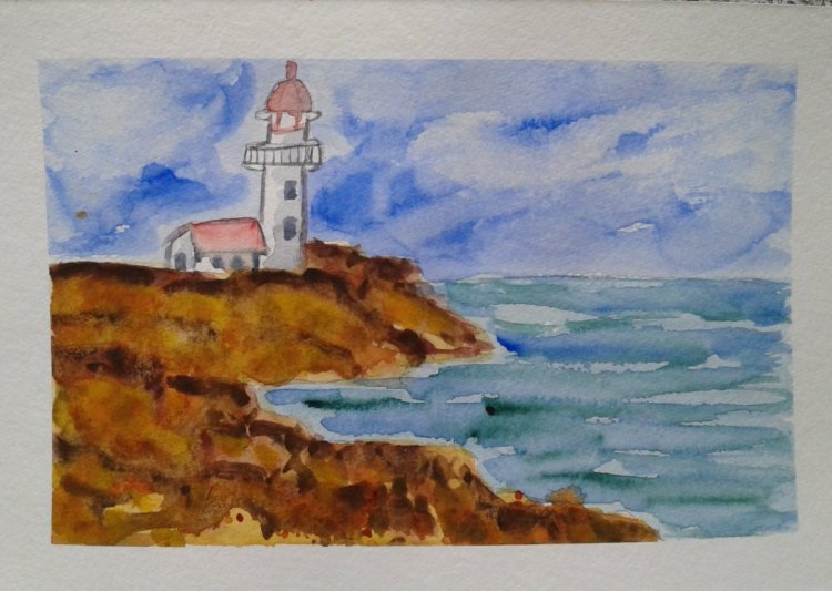 "Day 403…lighthouse I actually groaned when I saw the prompt was ""lighthouse"". And"