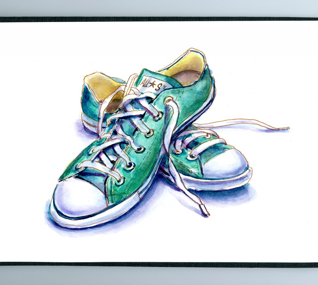 Day 26 - Always Wear Comfortable Shoes Chuck Taylor All Star Sneakers - Doodlewash