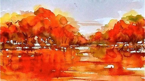 Watercolor Painting by Ambbali Dutta - Doodlewash