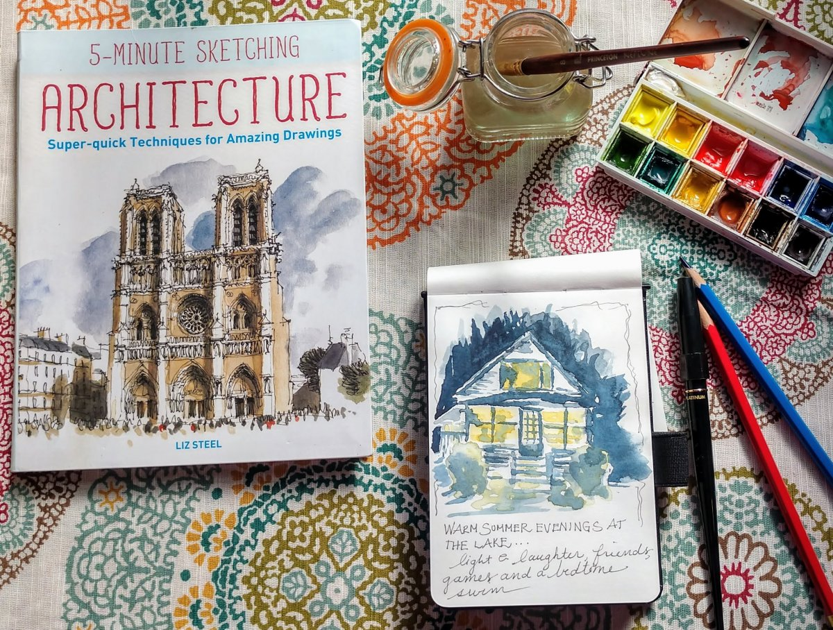 5-Minute Sketching Architecture - Book Cover - Doodlewash