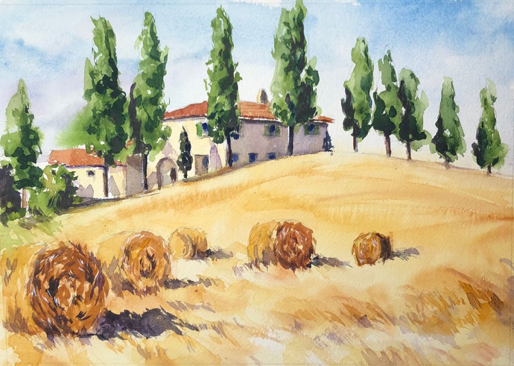 Watercolor Painting by Jim Huppenthal - Landscape