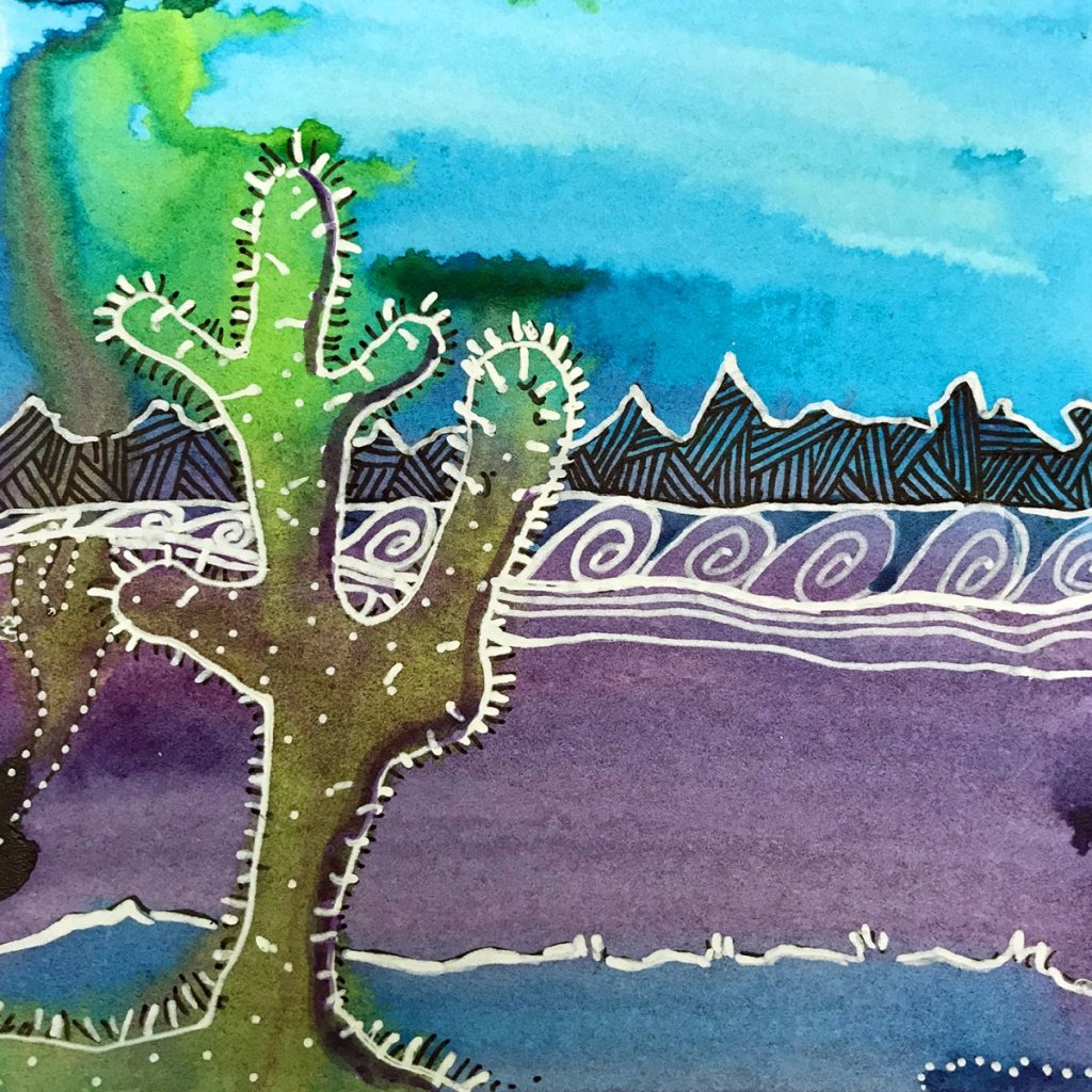 I developed and teach the art of Kumomi, a meditative art form using spontaneous watercolor painting