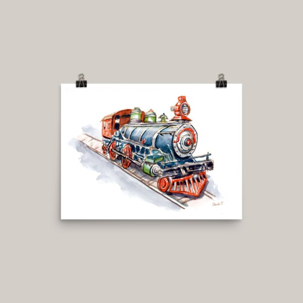 Riding-On-Toy-Trains-Signed_Watercolor Print